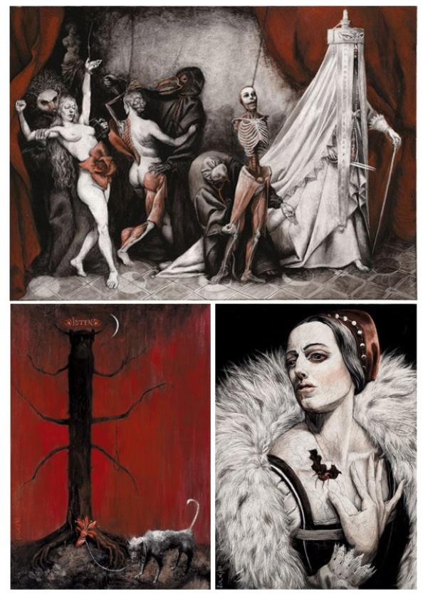 Ilustraciones de Santiago Caruso de 'La condesa sangrienta', de Alejandra Pizarnik