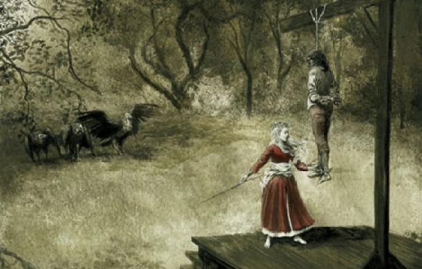 El monje y la hija del verdugo - Ambroce Bierce (ilustración de Santiago Caruso)