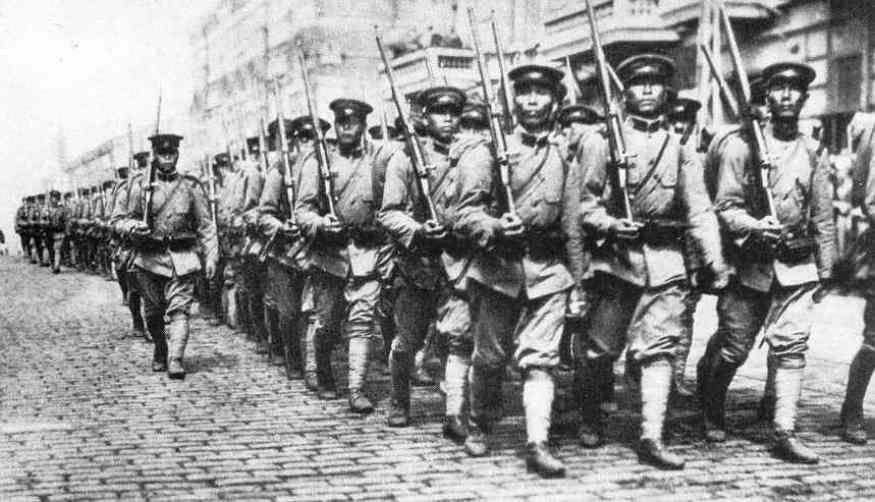Tropas japonesas en la Intervención siberiana